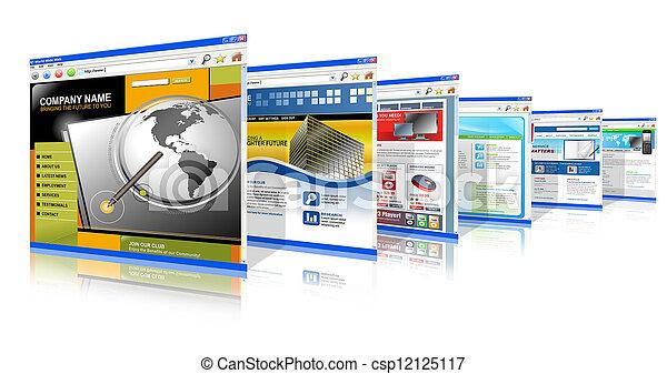 posición, tecnología, arriba, sitios web, internet - csp12125117