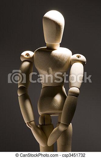Posing Model Figurine - csp3451732