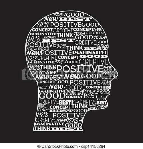 positief, verstand - csp14158264