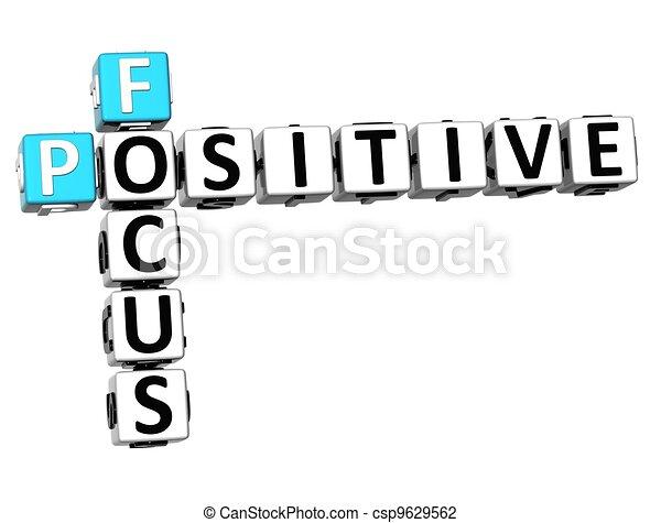 positif, 3d, foyer, mots croisés - csp9629562
