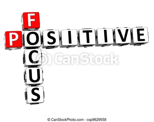 positif, 3d, foyer, mots croisés - csp9629558