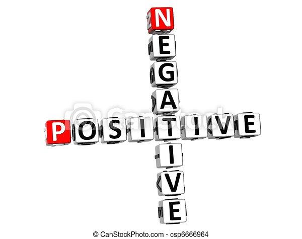 positif, 3d, négatif, mots croisés - csp6666964