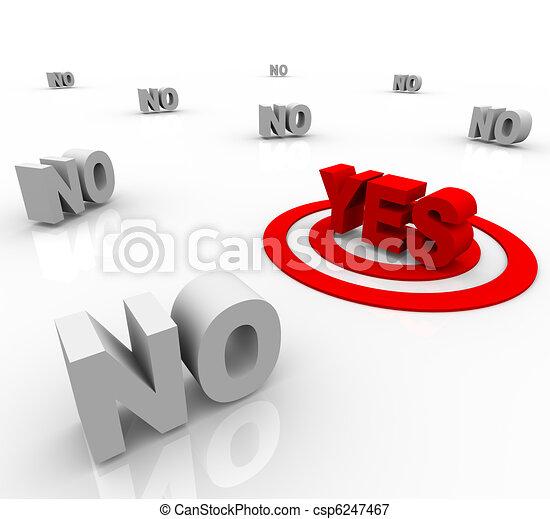 positif, entouré, -, réponse, oui, negativity - csp6247467