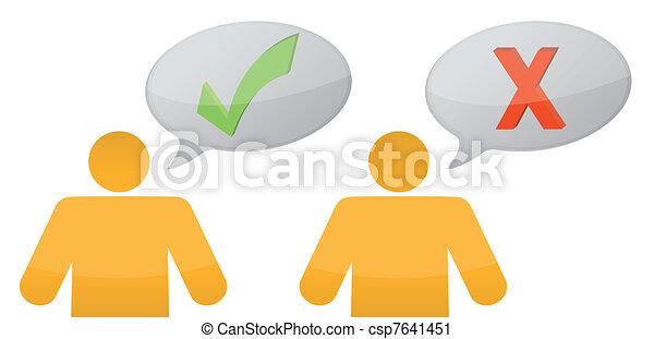 positif, messages, négatif - csp7641451