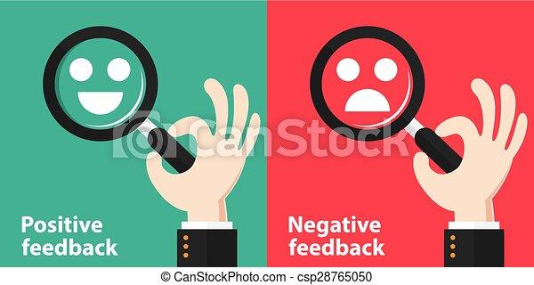 positif, négatif, réaction - csp28765050