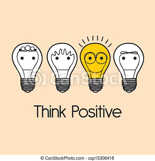 positif, penser - csp15306418