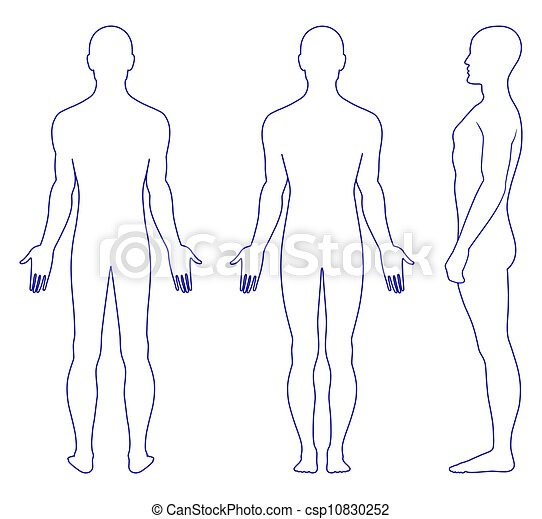 position homme, dénudée - csp10830252