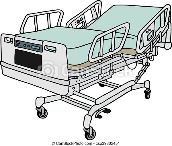 Position hospital bed. Hand drawing of a big position ...