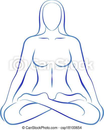 position, méditation, femme, yoga - csp18100654
