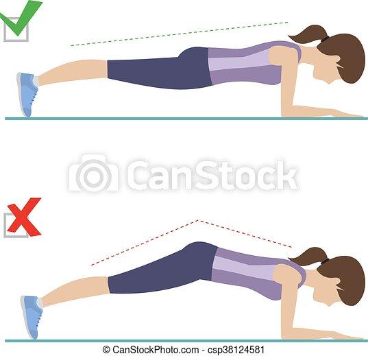 position, mal, droit, planche - csp38124581