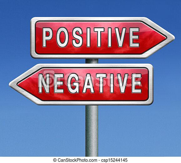 positiv, oder, negativ - csp15244145