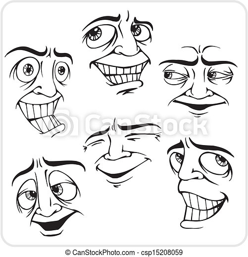 Positive emotions - vector set. - csp15208059