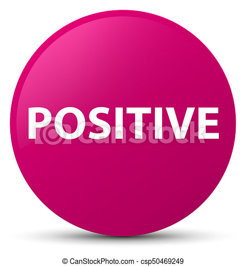 Positive pink round button - csp50469249