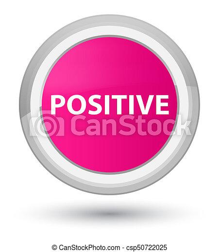 Positive prime pink round button - csp50722025