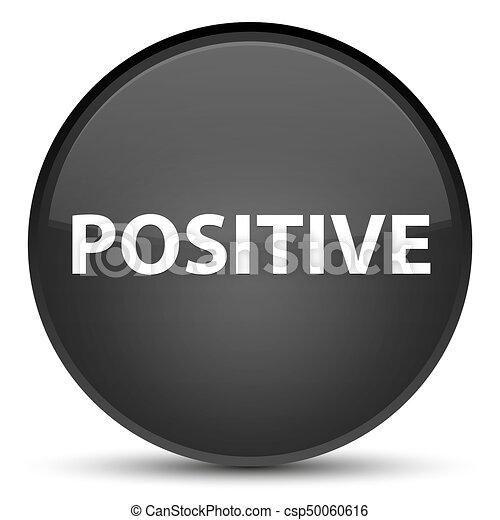 Positive special black round button - csp50060616