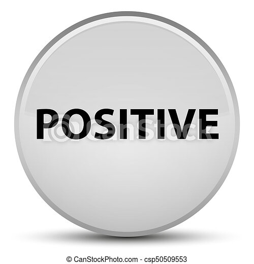 Positive special white round button - csp50509553