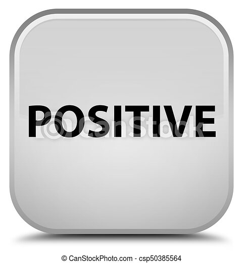 Positive special white square button - csp50385564