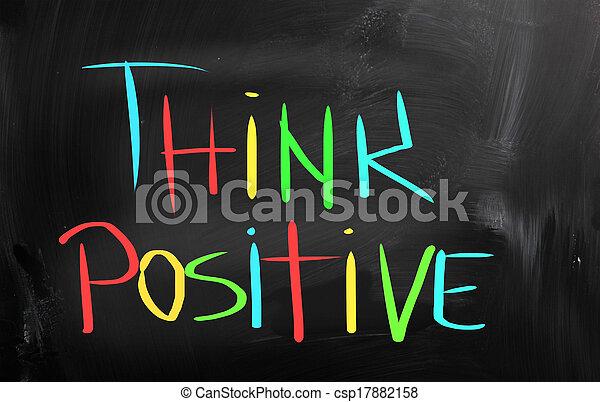 Piensa en el concepto positivo - csp17882158