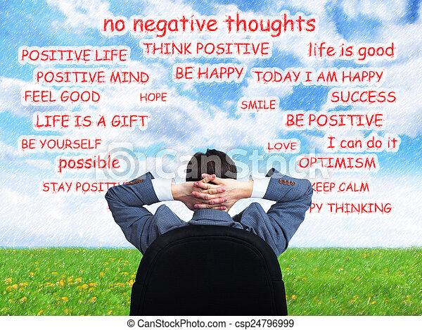 Hombre positivo. - csp24796999