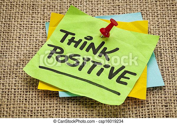 Piensa en positivo - csp16019234