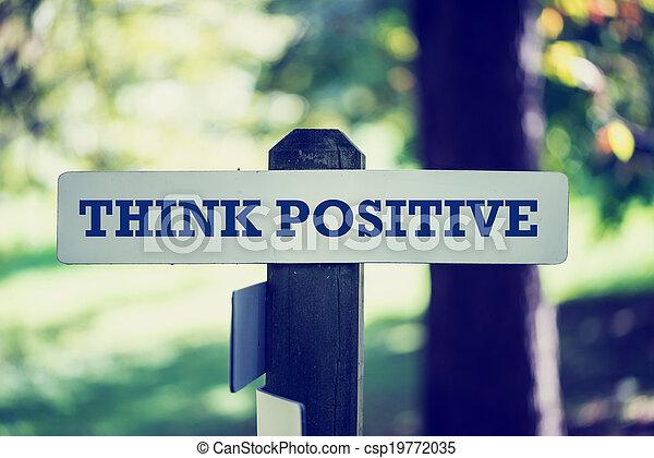 Piensa en positivo - csp19772035