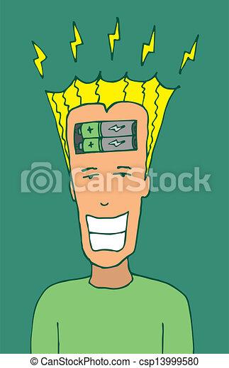 El tipo siente energía positiva - csp13999580