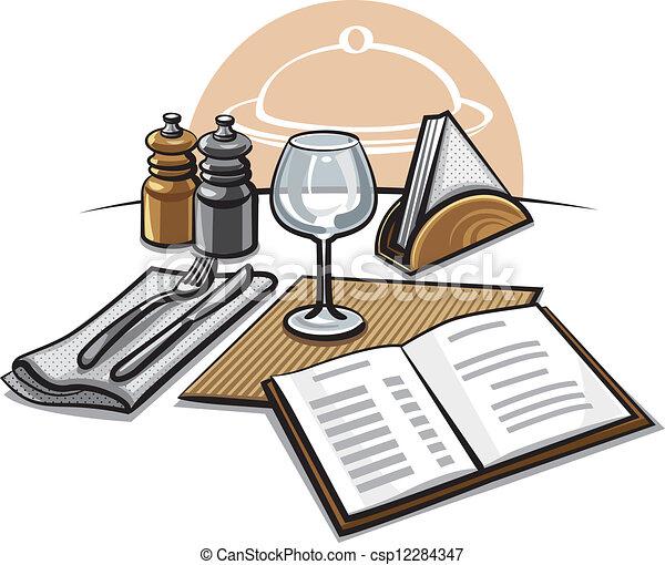 Mesa en el restaurante - csp12284347