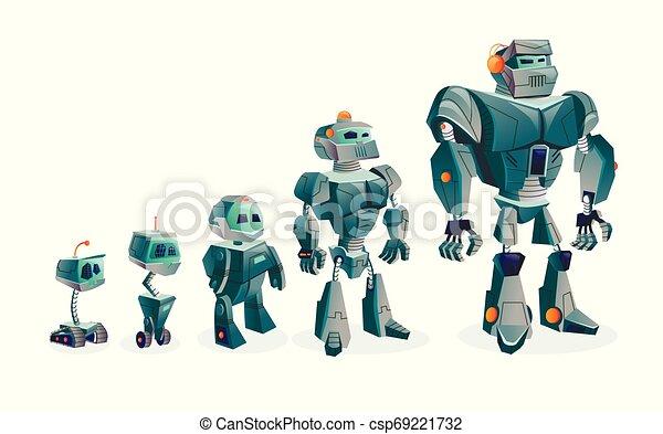 postęp, rozwój, roboty, techniczny - csp69221732