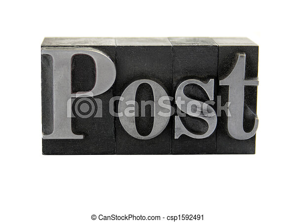 post in old metal type - csp1592491