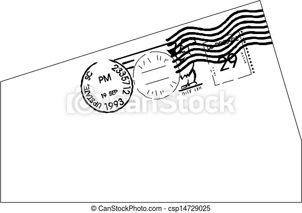 Post Stamp Template Vector