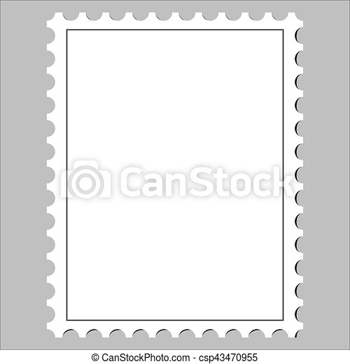 clean postage stamp template icon on white background vector