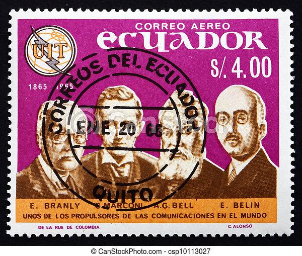 Postage stamp Ecuador 1966 Pioneers of Telecommunications - csp10113027