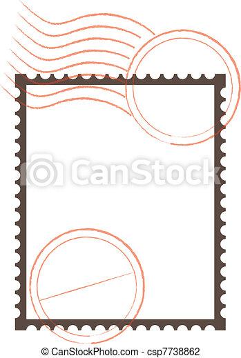 Postage Stamp Frame - csp7738862