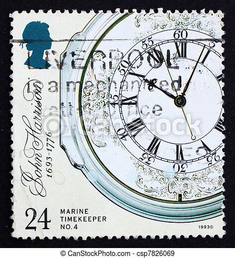 Postage stamp GB 1993 Marine Chronometer - csp7826069
