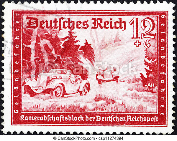 Postage stamp Germany 1939 Automobile Race - csp11274394