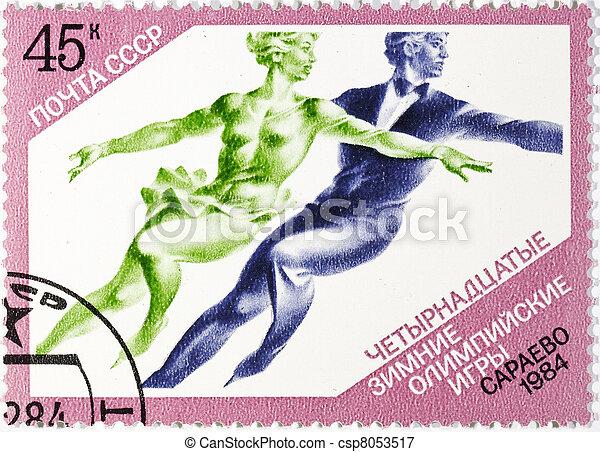postage stamp  - csp8053517