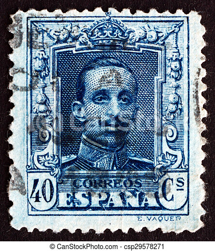 Postage Stamp Spain 1922 Alfonso XIII King Of