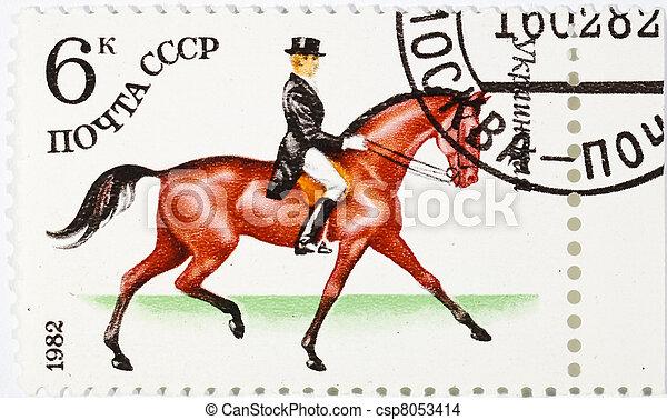 postage stamp  - csp8053414