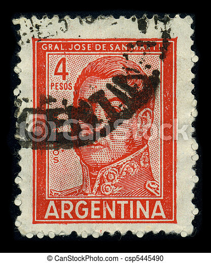 Postage stamp. - csp5445490