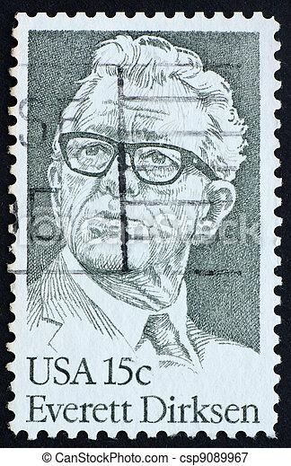Postage stamp USA 1981 Everett Dirksen, politician - csp9089967