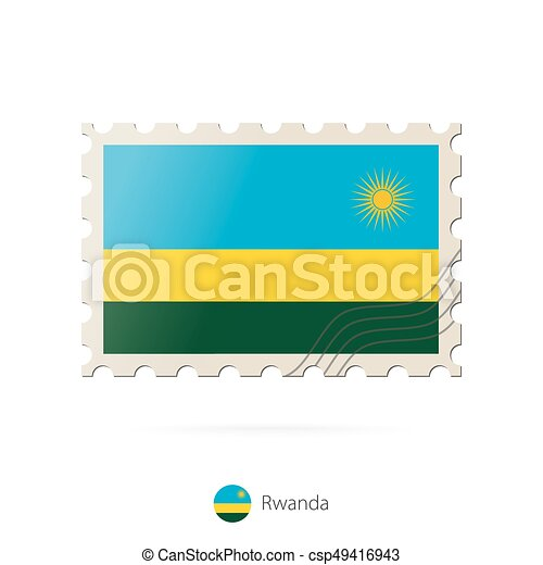 Postage Stamp With The Image Of Rwanda Flag Rwanda Flag Eps - Rwanda flag