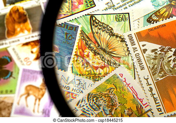 Postage stamps - csp18445215