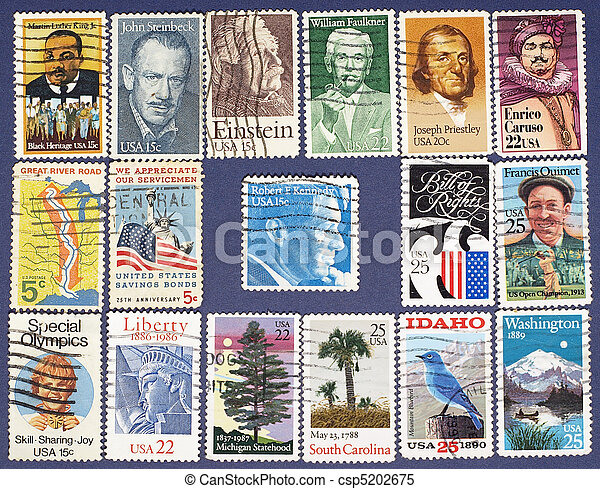 Postage stamps. - csp5202675