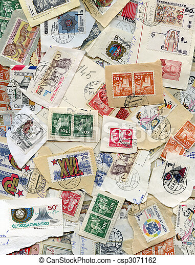postage stamps - csp3071162