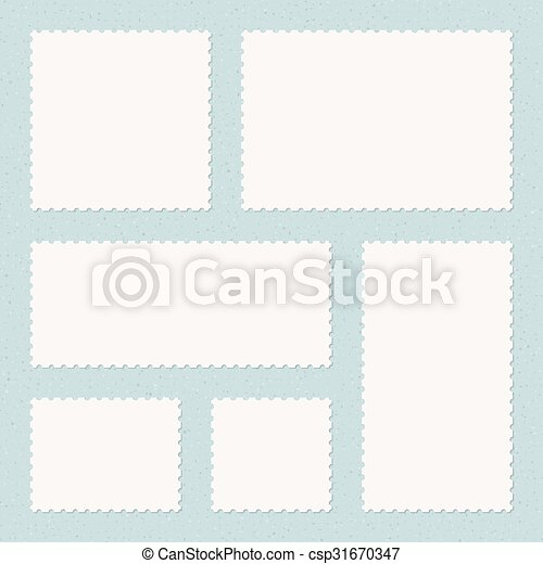 vintage postage stamps templates on textured background