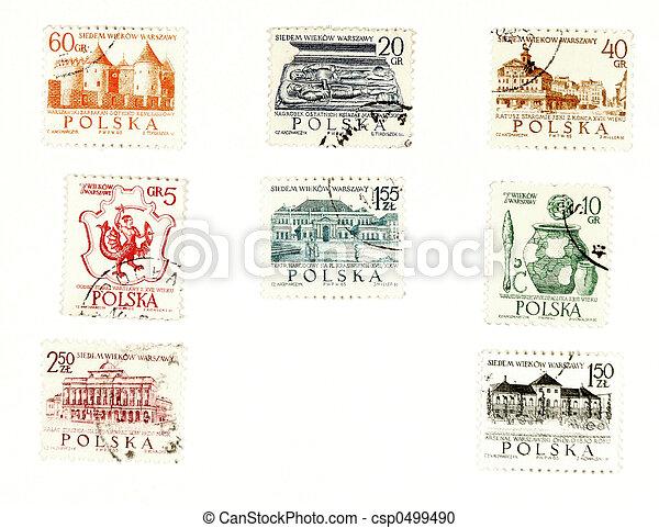postaköltség, collectible, topog, lengyelország - csp0499490