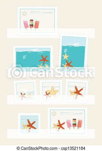 postaköltség, nyár, topog, gyűjtés - csp13521184