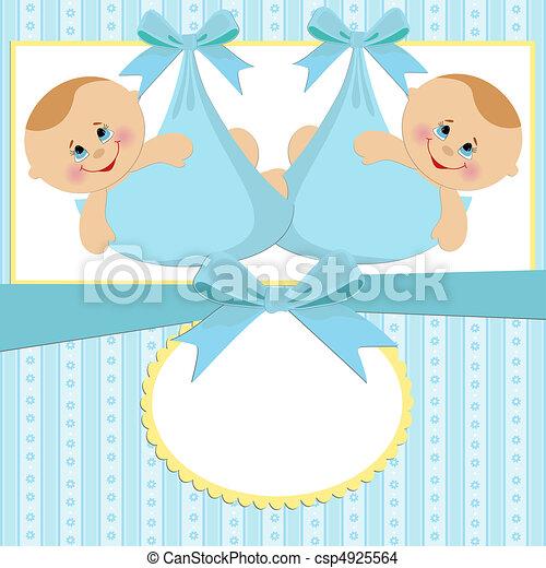 postal, bebé, plantilla - csp4925564