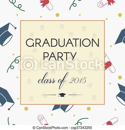 Graduación Celebrando Invitación O Postal Ilustración De