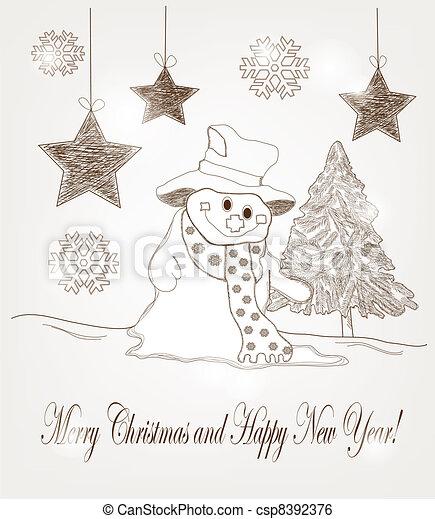 Dibujos Postales De Navidad Amazing Postal Dibujo Nios En Navidad - Postales-navidad-dibujos
